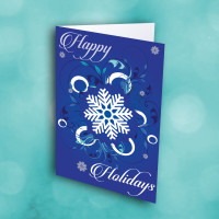 Picture of Happy Holidays Snowflake(BLUE)