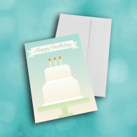 Picture of Three Candle Birthday Cake