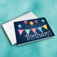 Picture of Balloons and Banners Birthday