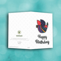 Picture of Patterned Dove Birthday