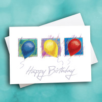 Picture of Color Pencil Balloon Birthday
