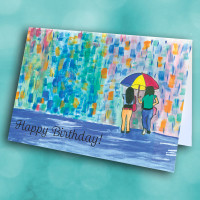 Picture of Umbrella Friends Birthday