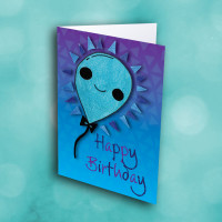 Picture of Blue Smile Balloon Birthday