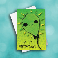 Picture of Green Smile Balloon Birthday