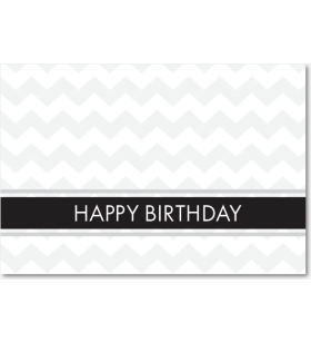 Picture of Silver Zig Zag Pattern Birthday