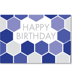 Picture of Blue Hexagon Pattern Birthday