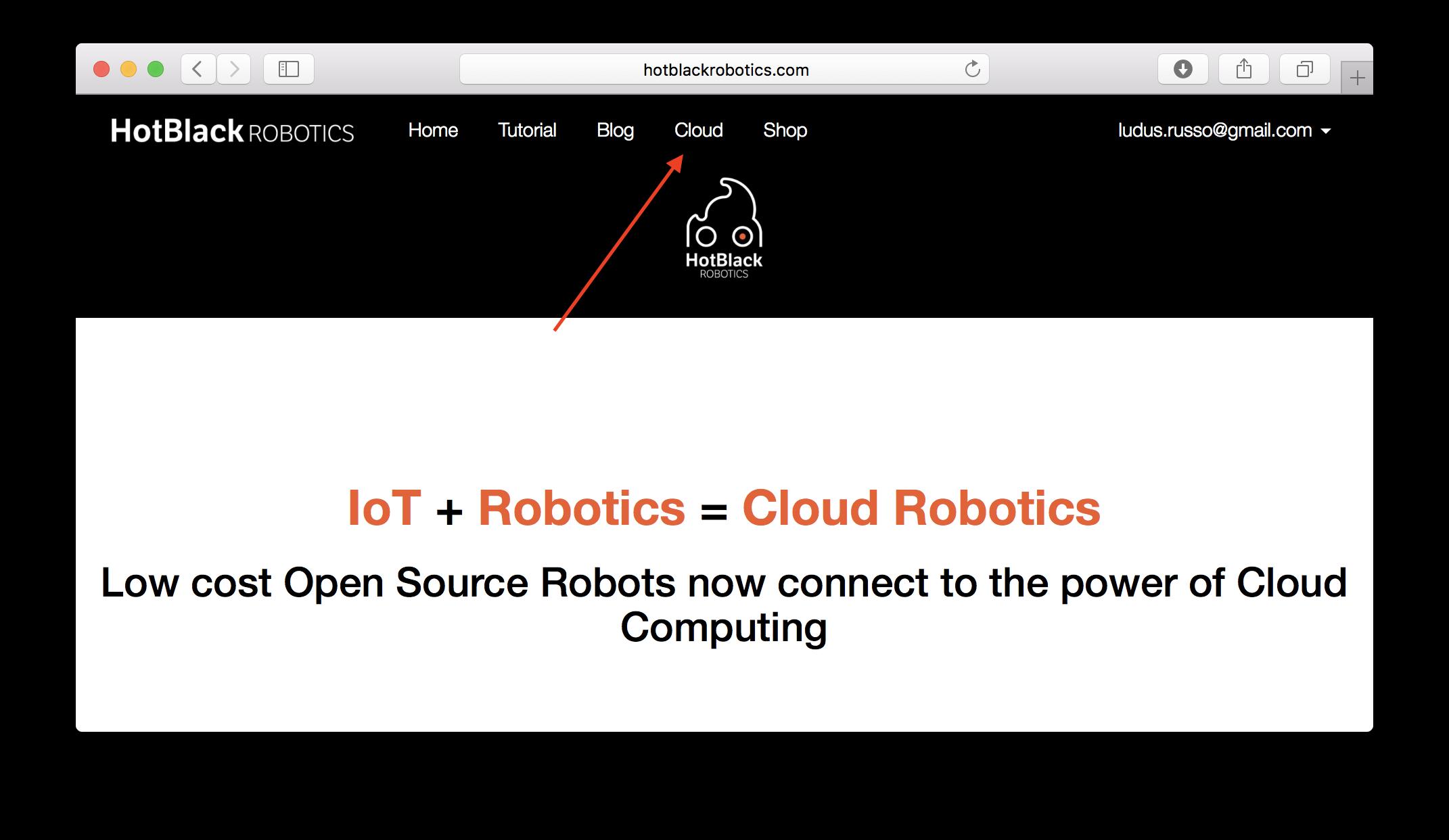 Accesso alla piattaforma cloud