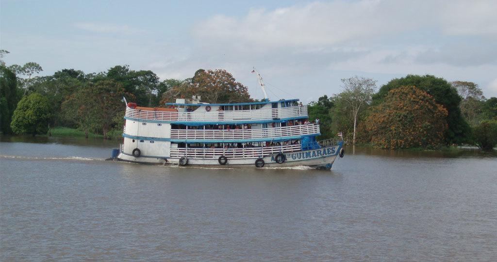 Amazon boat lodge - Brazil View Large Amazon boat lodge - Brazil
