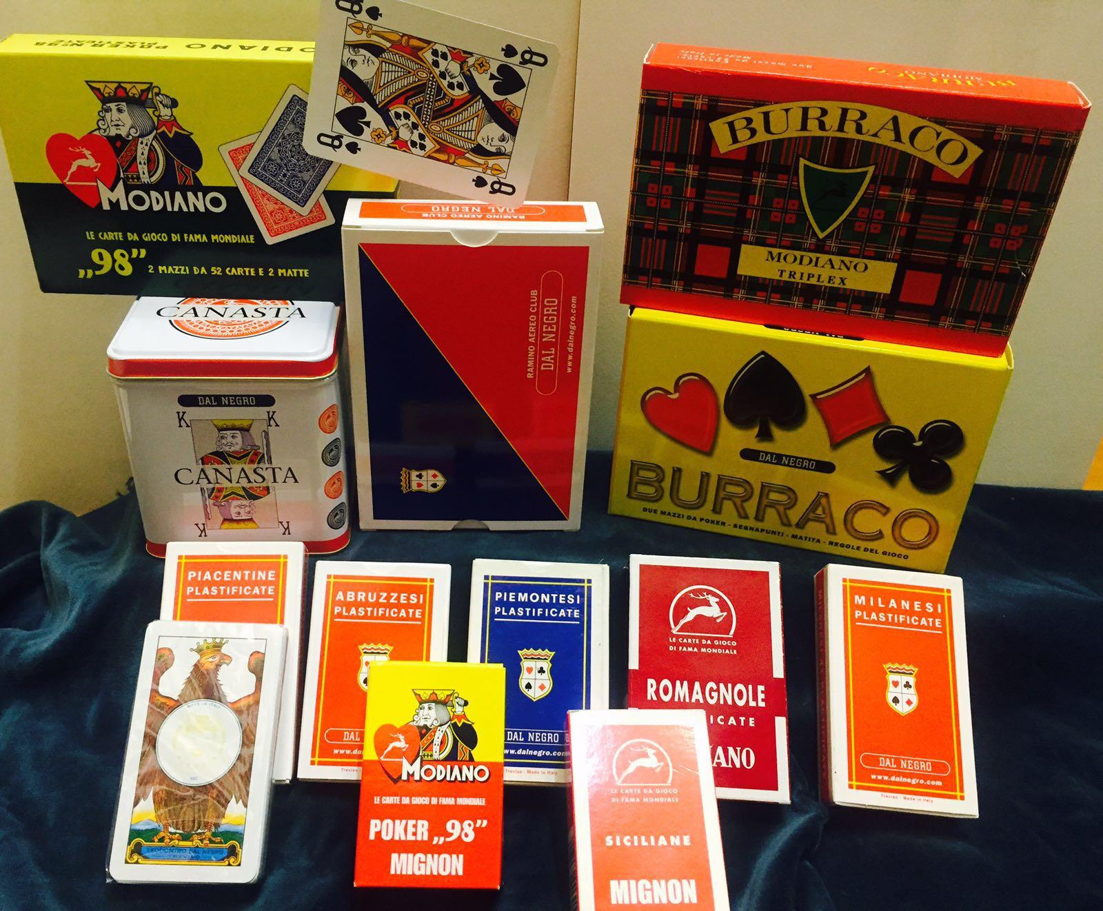 carte da poker in plastica e plastificate