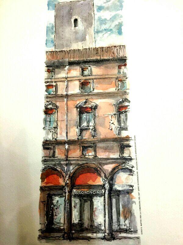Stampa del pittore Mattei fatta nel 1994 per i 300 anni del negozio