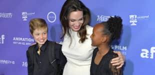 Angelina Jolie mit ihren Töchtern