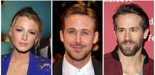 Blake Lively mit Ryan Gosling und Ryan Reynolds