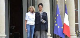 Brigitte Macron und Rihanna
