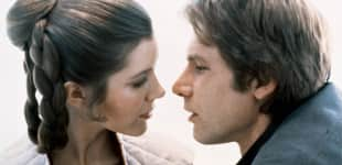 Carrie Fisher und Harrison Ford