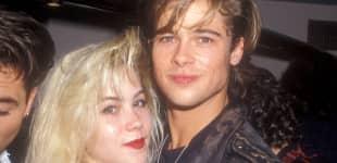 Christina Applegate und Brad Pitt