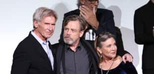 Harrison Ford, Mark Hammil und Carrie Fisher
