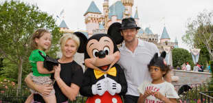 Hugh Jackman mit seiner Familie