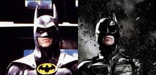 Michael Keaton und Christian Bale