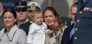 Prinzessin Madeleine mit ihrer Tochter Prinzessin Leonore