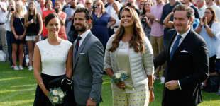 Sofia Hellqvist, Carl Philip, Prinzessin Madeleine und Chris O'Neill