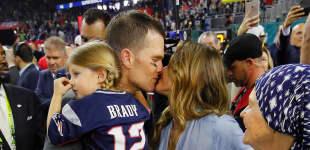 Tom Brady, Tochter Vivian und Gisele Bündchen