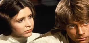 """Prinzessin Leia"" (Carrie Fisher) und ""Luke Skywalker"" (Mark Hamill)"