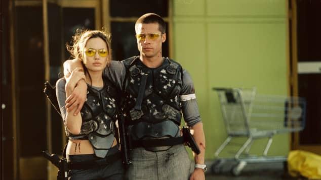 """Angelina Jolie und Brad Pitt in """"Mr. & Mrs. Smith"""""""