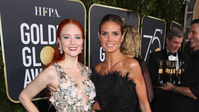 Barabara Meier und Heidi Klum bei den Golden Globes