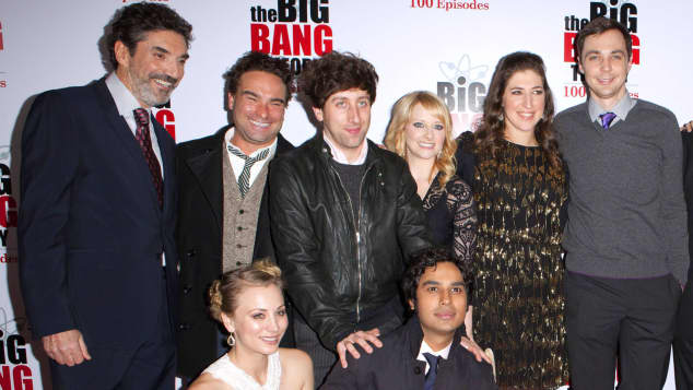 "Chuck Lorre und der ""The Big Bang Theory""-Cast"