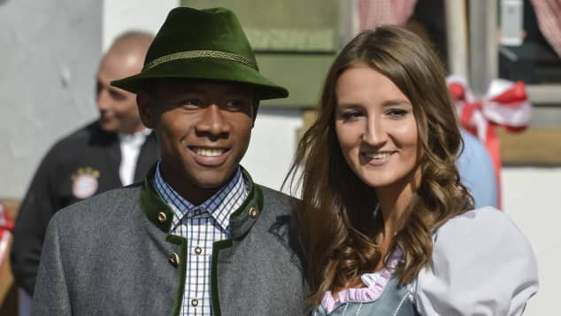 David Alaba und Katja Butylina