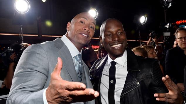 Dwayne Johnson und Tyrese Gibson