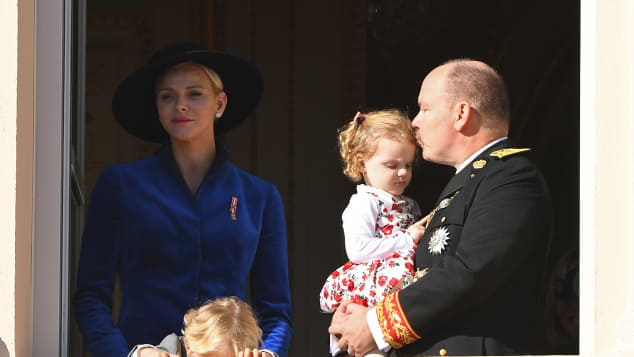 Fürst Albert, Charlène von Monaco, Prinz Jacques und Prinzessin Gabriella