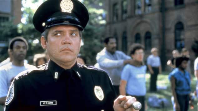 "G. W. Bailey als ""Thaddeus Harris"" in ""Police Academy"""