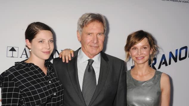 Harrison Ford mit Tochter Georgia und Calista Flockhart