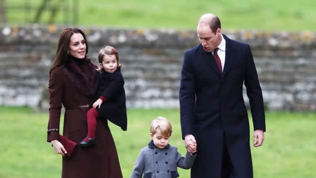 Herzogin Catherine, Prinzessin Charlotte, Prinz George und Prinz William