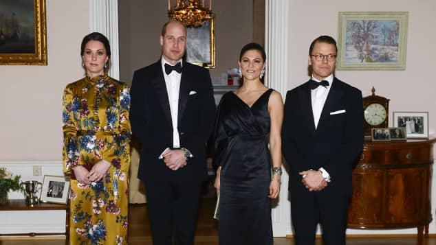 Herzogin Kate, Prinz William, Prinzessin Victoria und Prinz Daniel