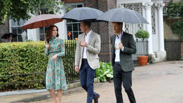 Herzogin Kate, Prinz William und Prinz Harry