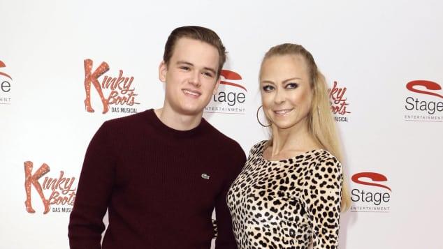 Jenny Elvers und Sohn Paul Jolig