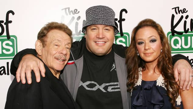 Jerry Stiller, Kevin James und Leah Remini