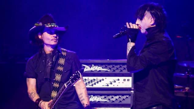 Johnny Depp und Marilyn Manson