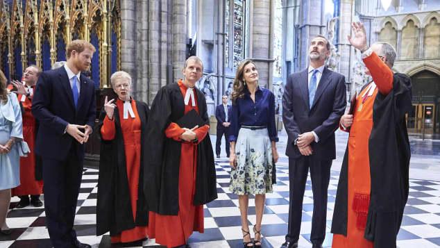 König Felipe Königin Letizia Prinz Harry