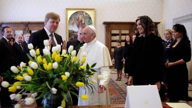 König Willem-Alexander, Papst Franziskus und Königin Máxima