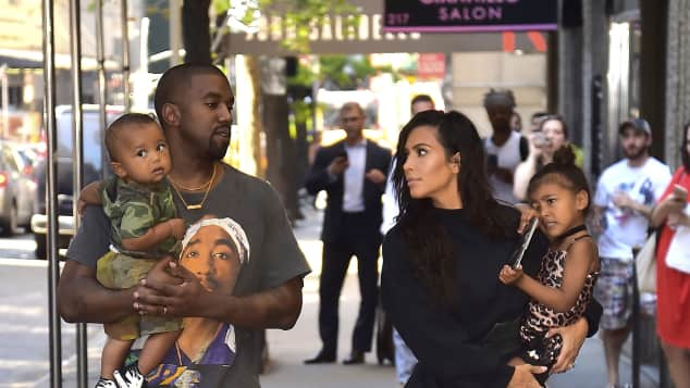Kanye West, Kim Kardashian, Saint West und North West