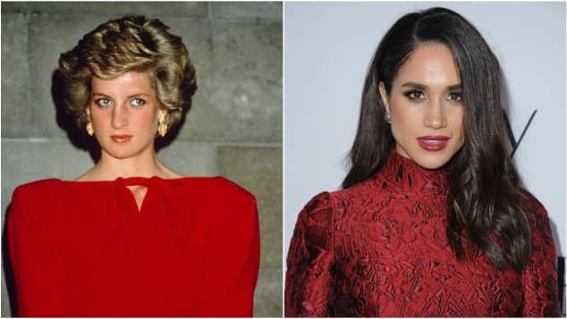 Lady Diana und Meghan Markle