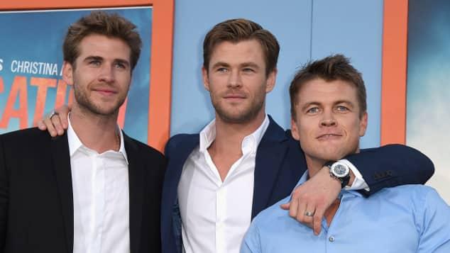 Liam Hemsworth, Chris Hemsworth und Luke Hemsworth