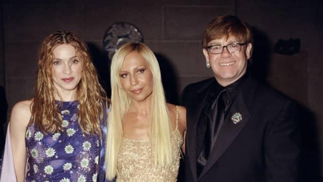 Madonna Donatella Versace und Elton John