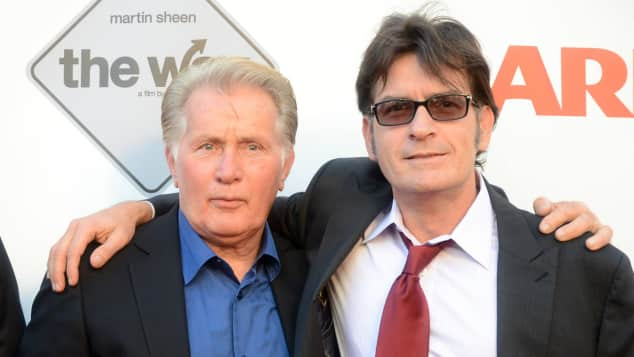 Martin und Charlie Sheen