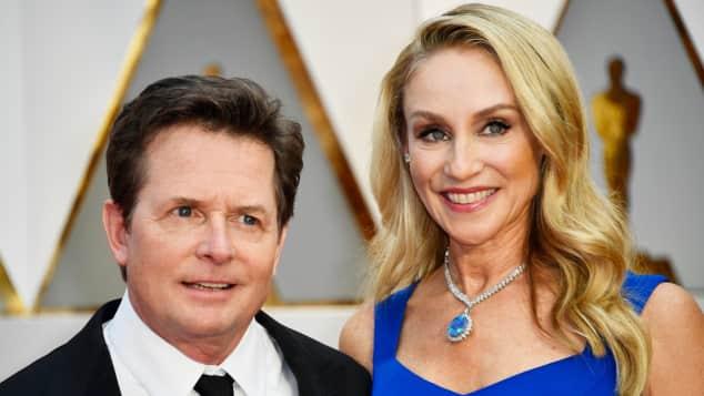 Michael J. Fox mit Tracy Pollan