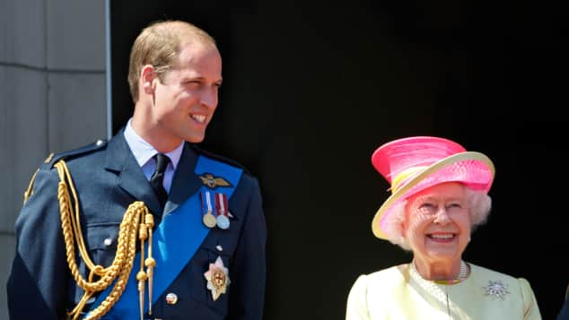 Pirinz William und Queen Elisabeth II.