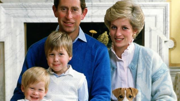 Prinz Harry, Prinz William, Prinz Charles und Lady Diana